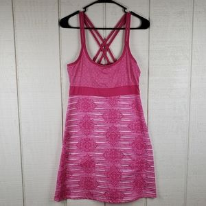 LOLA by AFG White Pink Athletic Strappy Dress